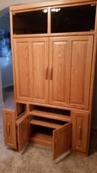 Solid Oak Entertainment Center